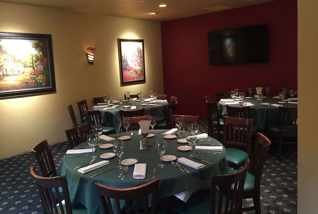 Castelli's New VIP Dining Room